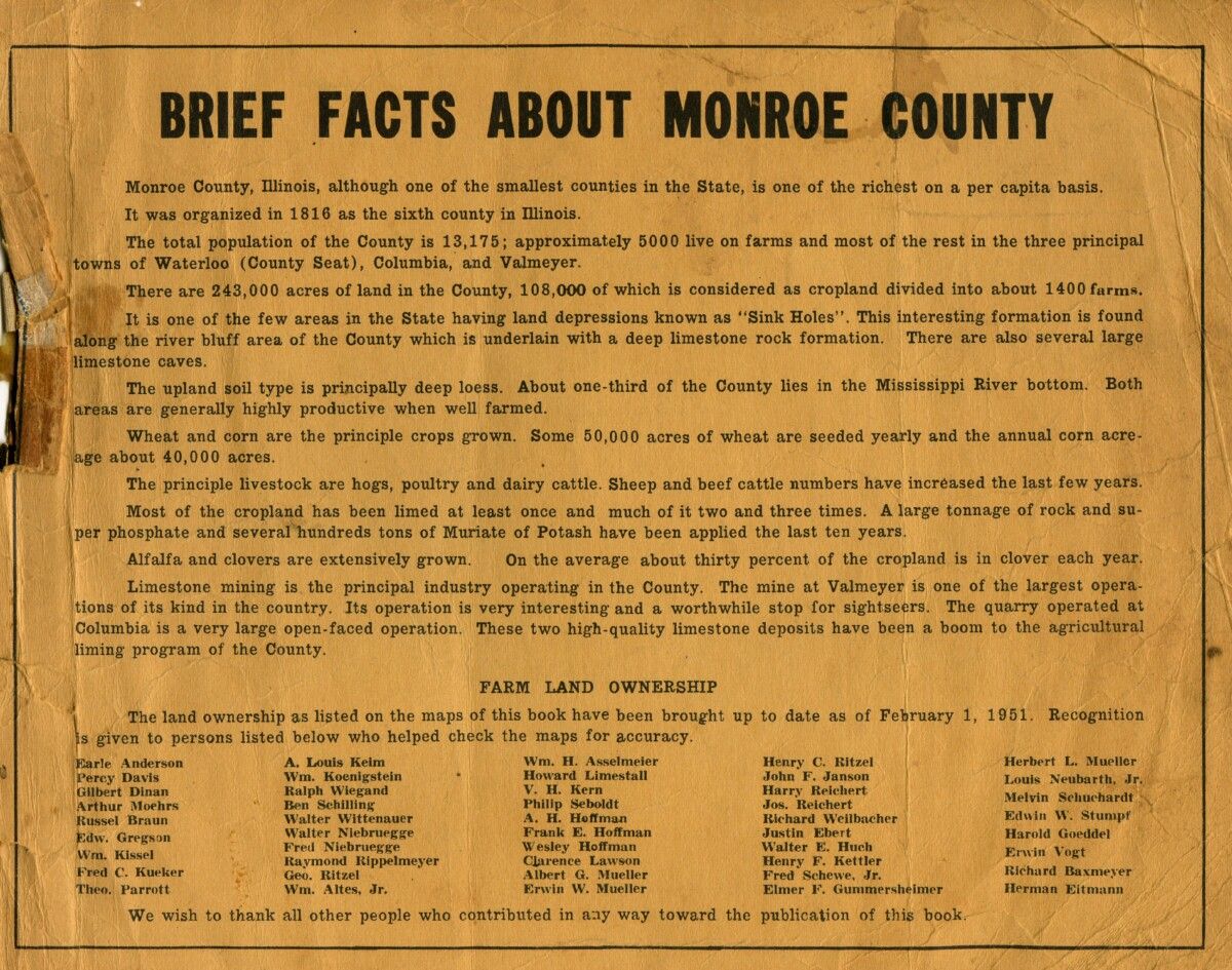 Cover Facts about Monroe Co